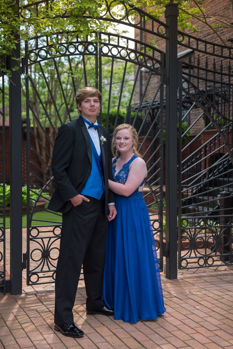 Prom Couple in Black and Blue