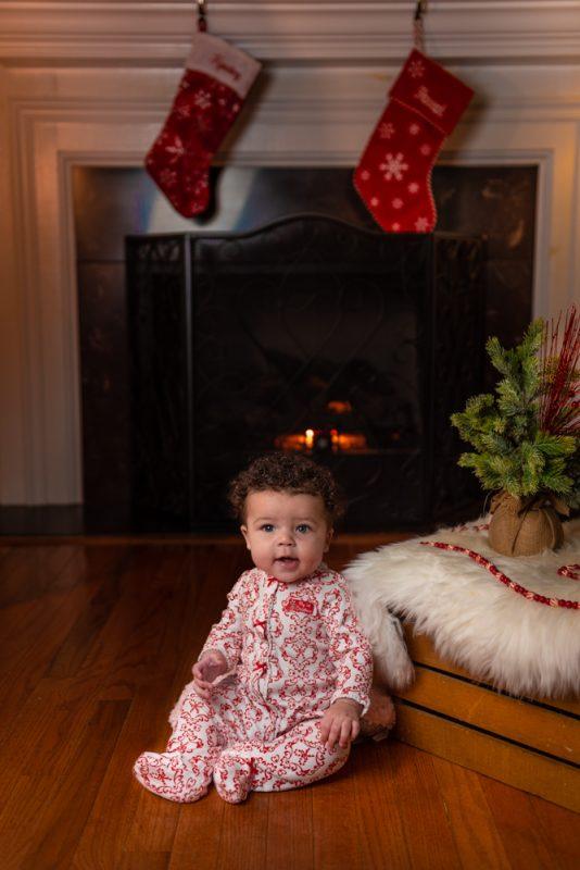 Little Girl in Christmas Pajamas